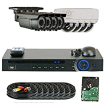 GW Security 1080P HD-CVI 8 Channel Video Security Camera System - Eight 2MP Weatherproof 2.8-12mm Varifocal Zoom (4) Bullet & (4) Dome Cameras, 196FT IR Night Vision, Pre-Installed 3TB HDD