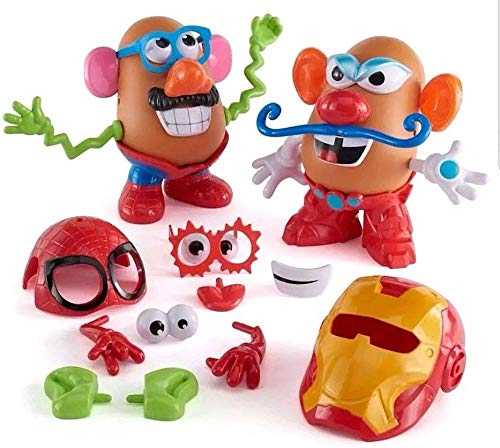Mr. Potato Head Marvel Spider-Man vs. Iron Man Set by Playskool 32 -
