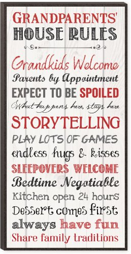 Grandparents House Rules Print Decorative Wall Art Sign
