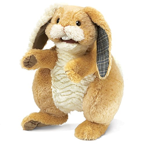 Used, Folkmanis Patchwork Rabbit Hand Puppet for sale  Delivered anywhere in USA