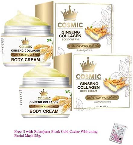 2 UNITS OF COSMIC GINSENG COLLAGEN BODY CREAM BY COSMIC BRIGHTENING WHITENING AURA SKIN[GET FREE TOMATO FACIAL MASK]