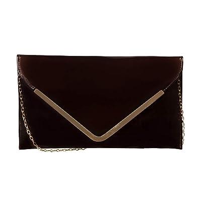 c394f678973 Levise London Designer Chain Clutch for Women- Brown: Amazon.in ...