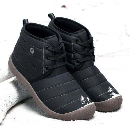 Enly Mens Womens Lace up Chukka Boots Anti-Slip Snow Ankle Boots Outdoor Unisex Shoes B078N16M1X US Men 6 D(M)= Women 7 B(M)|Black