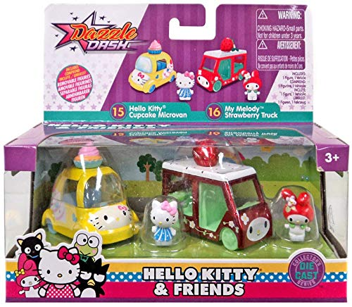 Hello Kitty & Friends Cupcake Microvan and My Melody Strawberry Truck (Keroppi Kitty Hello)