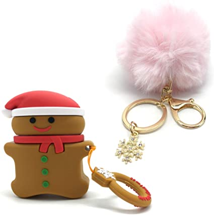 Gingerbread Mulafnxal Compatible with Airpods 1/&2 Case,Silicone 3D Cute Fun Funny Cartoon Character Airpod Cover,Kawaii Fashion Cool Chic Design Skin,Shockproof Cases for Teens Girls Boys Air pods