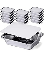 DecorRack auminum Pan, Heavy Duty Rectangular Tin Foil Pans, Perfect for Reheating, Baking, Roasting, Meal Prep, to-Go Containers, Environmentally Friendly