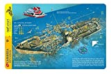 Caribsea Wreck North Carolina Waterproof Dive Card