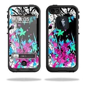 Quaroth - Protective Vinyl Skin Decal Cover for LifeProof iPhone 5 Case 1301 fre Sticker Skins Leaf Splatter