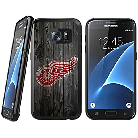 Samsung Galaxy S6 TPU Case, Detroit Red Wings Samsung Galaxy S6 Rubber Shell Tough Backplate Cover - Backplate Wing