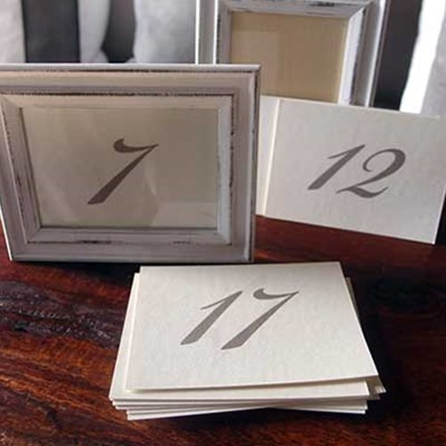 David Tutera Double Sided Numbers