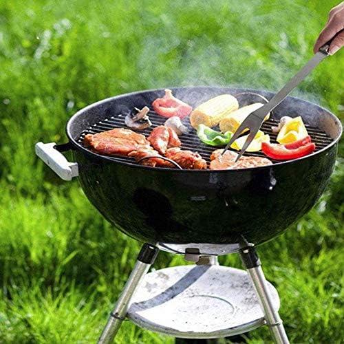 CAPUCHE SWEAT Ensemble D'outils pour Barbecue en Acier Inoxydable (3 Pièces) - Fourchette Et Pinces pour Tourneur/Spatule 35 Cm Durable Résistant À La Rouille