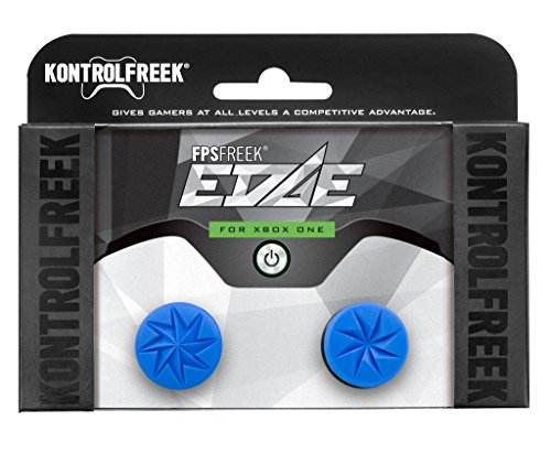 - KontrolFreek FPS Freek Edge for Xbox One Controller | Performance Thumbsticks | 1 High-Rise Convex, 1 Low-Rise Convex | Blue