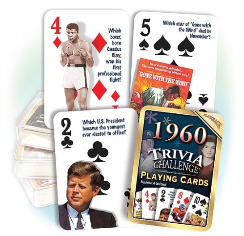 1960 Trivia Playing Cards