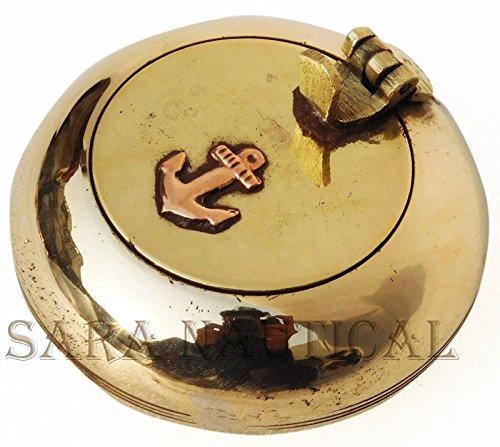 (Marine Brass Ashtray Cigar Cigarette Tobacco Vintage Anchor Collectible Item)