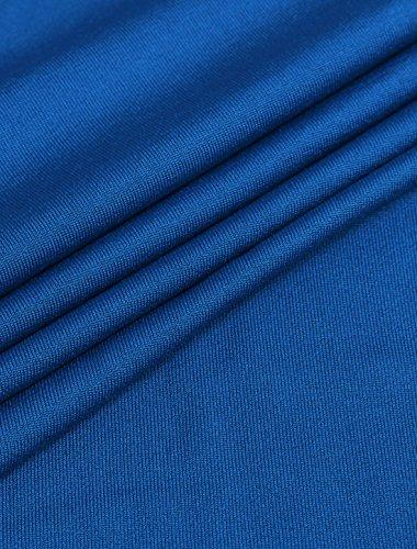 [Allegra K] ワンピース スクープネック ノースリーブ レースパネル ミニドレス レディース ブルー M