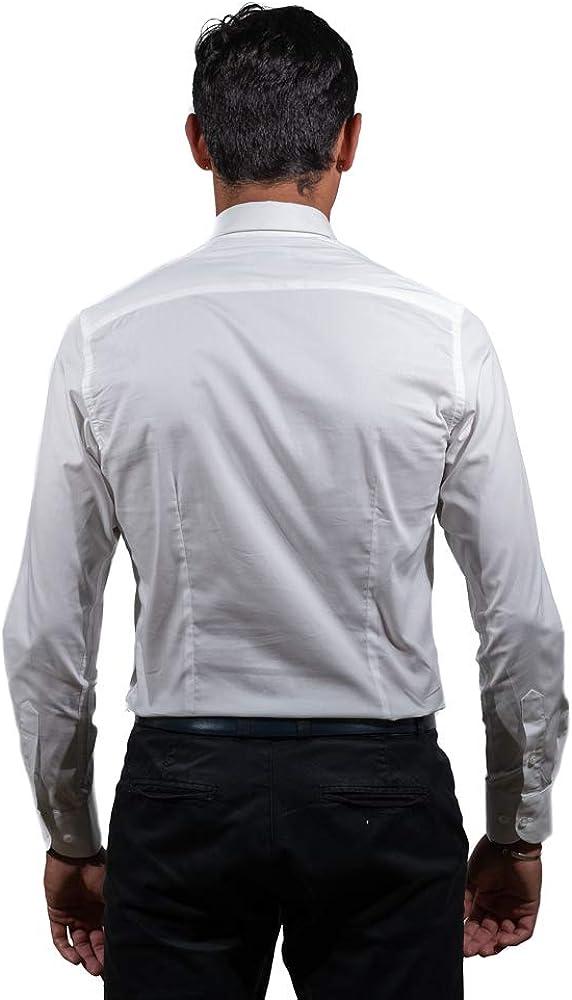 Montecristo Camicia Uomo Camicia Bianca Slim Fit 100/% Cotone