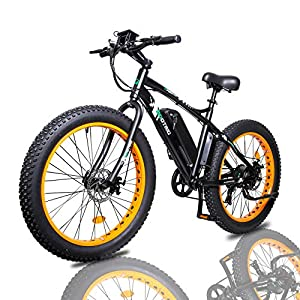 """ECOTRIC Electric Powerful Bicycle 26"""" Fat Tire Bike 500W 36V/12AH Battery EBike Moped Snow Beach Mountain Ebike Throttle & Pedal Assist"""