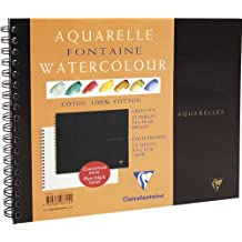 Clairefontaine Watercolour 300g Spiral Pad 24x30cm NOT - 12 sheets
