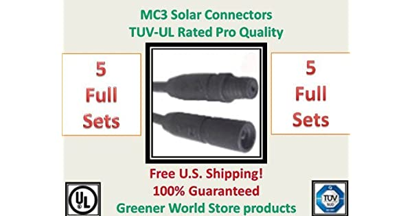 MC3 Solar Panel Power 100/' Extension Cable M//F 10 AWG