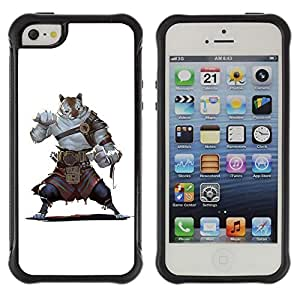 Suave TPU GEL Carcasa Funda Silicona Blando Estuche Caso de protección (para) Apple Iphone 5 / 5S / CECELL Phone case / / Cartoon Comics Character Tiger Warrior Strong /