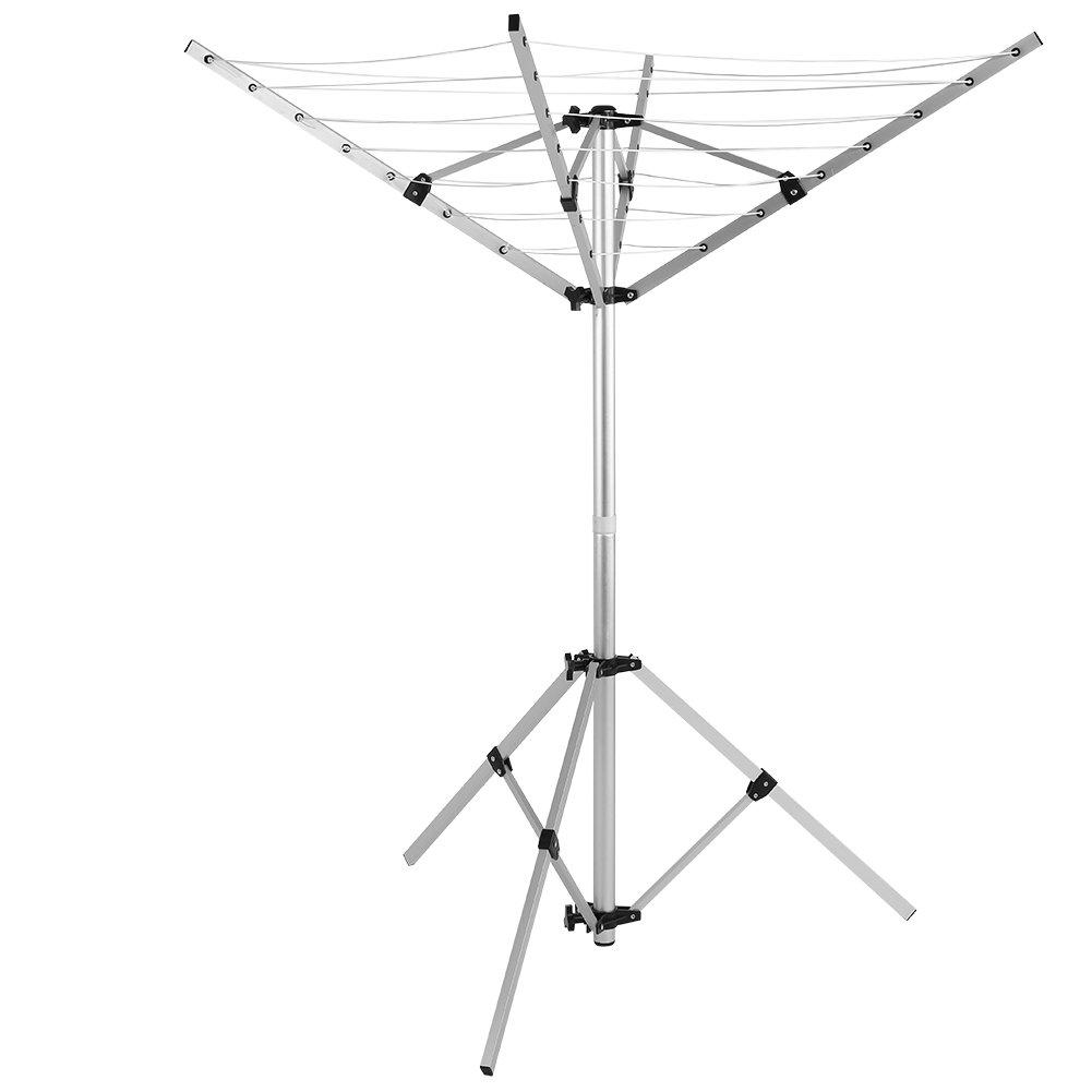 GOTOTOP 4 Arme und 3 Beine W/äschespinne W/äscheleine Stativ Standtrockner W/äschest/änder Fl/ügelw/äschetrockner W/äscheschirm