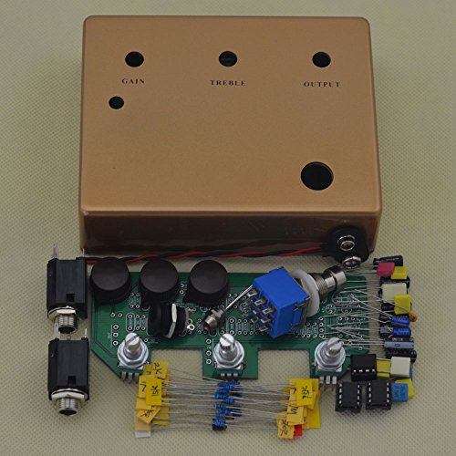 TTONE Klone Vintage Metal Pedal Enclosure Overdrive Electric Guitar Single Effects Kit (gold)