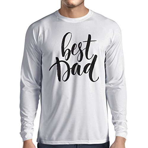 lepni.me Long Sleeve t Shirt Men Best Dad - For Husband Gifts From Wife, Happy Father's Day Presents (XXX-Large White Multi - Boy Mean From Christmas Story