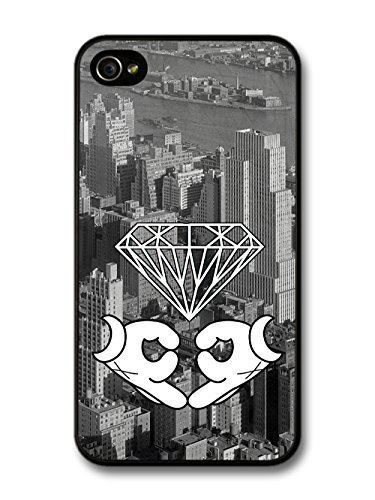 White Gloves Sign New York Diamond Skyline Stylish coque pour iPhone 4 4S