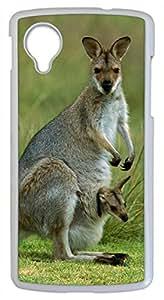 Kangaroo Mother and Her Child DIY Hard Shell White Google Nexus 5 Case Perfect By Custom Service