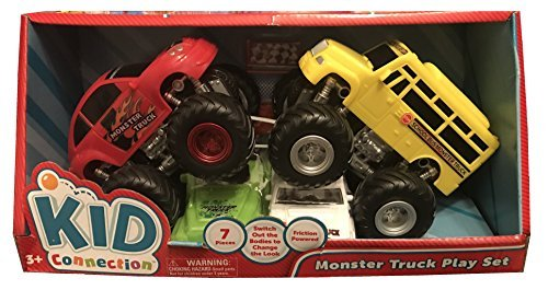 Monster Truck Play Set - Car vs. Bus by Kid Connection
