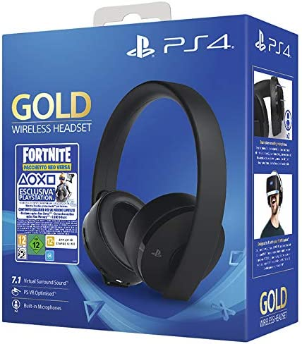 PlayStation 4 - Gold Headset + Fornite Vch (2019) [Importación ...