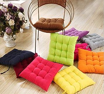 Amazon.com: 40 * 40 cm Silla Pad Cojín Perla algodón ...