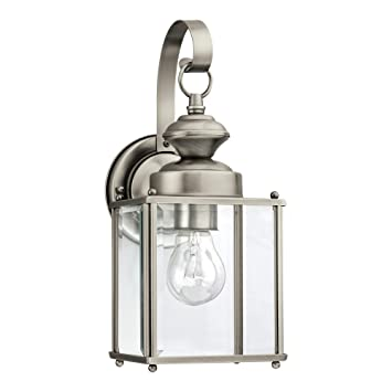 Sea Gull Lighting 8457 965 Jamestowne One Light Outdoor Wall Lantern With Clear Beveled
