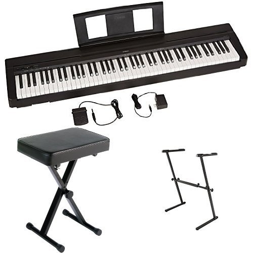 Best Price! Yamaha P71 Digital Piano (Amazon Exclusive) Bundle with Z Stand and Bench