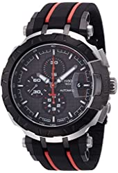 Tissot T-Race MotoGP Black Dial SS Rubber Automatic Men's Watch T0924272706100