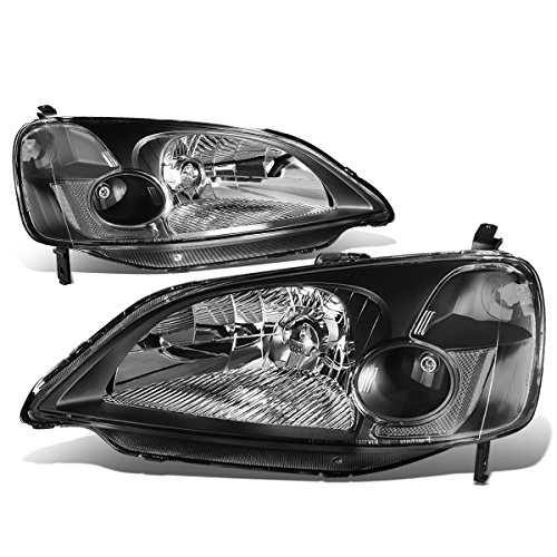 Driver and Passenger Side DNA MOTORING HL-OH-FR93-BK Headlight Assembly