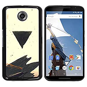 LECELL--Funda protectora / Cubierta / Piel For NEXUS 6 / X / Moto X Pro -- Negro Triángulo --