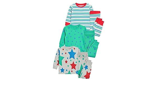 next Niños Pack De Tres Pijamas Cómodos Estrellas/Rayas (9 Meses - 8 Años): Amazon.es: Ropa y accesorios
