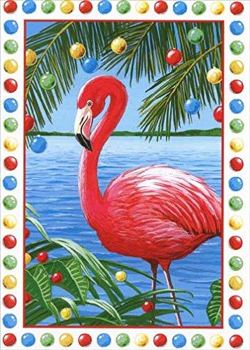 pink flamingo red farm studios box of 18 tropical christmas cards - Tropical Christmas Cards