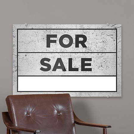 27x18 CGSignLab Basic Gray Premium Acrylic Sign for Sale