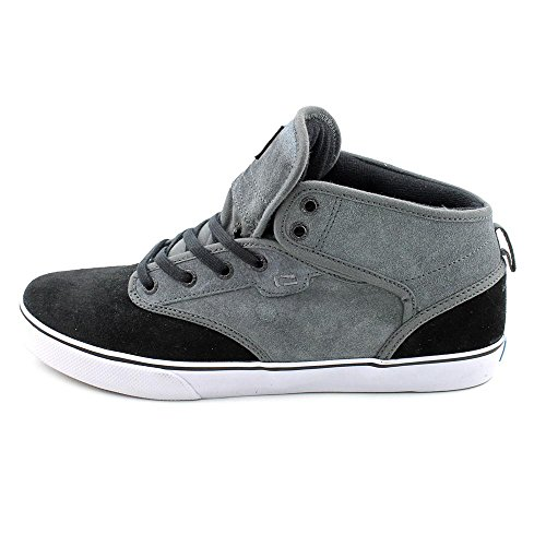 Globe Men's Motley Mid Skateboard Shoe, Charcoal/Black, 9.5 M US