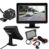 Dacawin 4.3'' TFT LCD Car Rear View Mirror Monitor + Night Vision Backup Reverse Camera (Black)