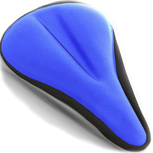 Comfort Exercise Bikes Seat Cushions -  Universal Bicycles Saddle Covers for Women and Men - For Indoor Cycling, Spinning, Stationary and Mountain Bike