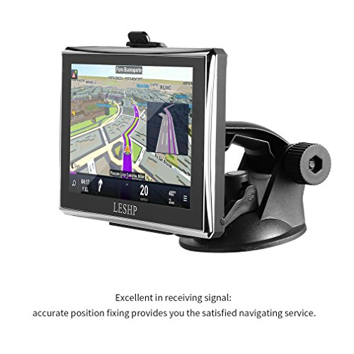 Car GPS Navigation 5inch LESHP Touch Screen GPS Device with Built-in 8GB ROM,FM,MP3, MP4, Lifetime Map (Fake Gps Device)