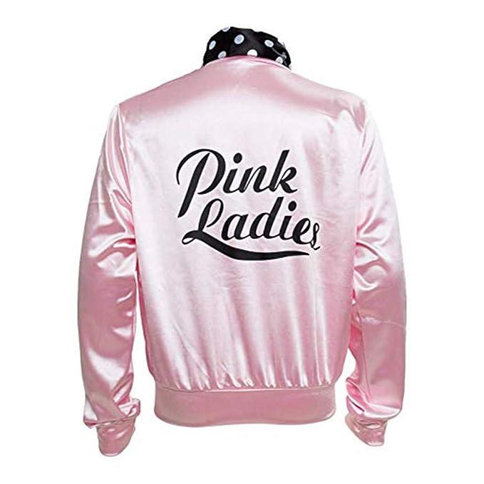 Amazon.com: Girls Kids Child Pink Ladies Jacket Satin Jacket ...