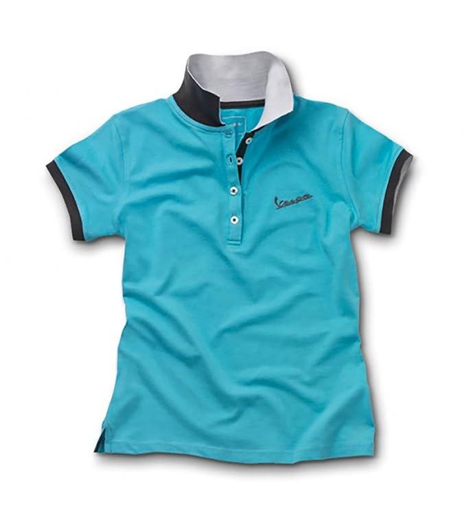 Vespa - Polo - para mujer azul azul extra-small: Amazon.es: Coche ...