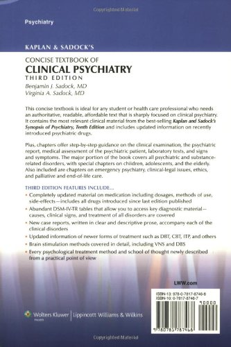Kaplan and Sadock's Concise Textbook of Clinical Psychiatry, 3rd Edition