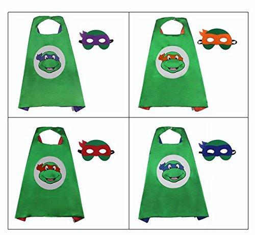 RED Cartoon Ninja Turtles Mask Cloak 2017 Fun Children Mask Cloak For Halloween Christmas Birthday Party Decoration Supplies]()