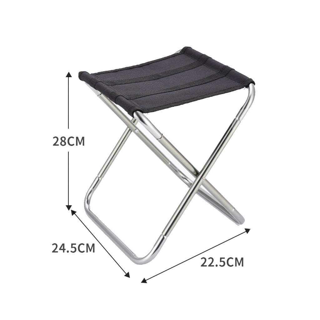 DWJ Portable Camping Stool with Carrying Bag, Light Folding Garden Chair Fishing Chair for Camping BBQ Party (Color : Silver) by DWJ