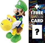 Luigi Riding Yoshi: ~8'' Super Mario Bros Mini-Plush + 1 FREE Official Super Mario Bros Fun Card Bundle